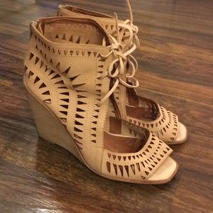 Jeffery Campbell cut out wedges